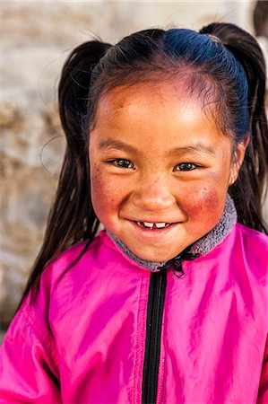 Portrait of young Sherpa girl in Everest Region Stock Photo - Premium Royalty-Free, Code: 6106-08080806