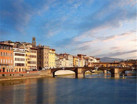Florence bridges Stock Photo - Premium Royalty-Free, Code: 6106-08172339