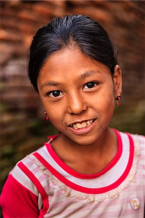 Portrait of young Nepali girl in Bhaktapur Stock Photo - Premium Royalty-Free, Code: 6106-08100372