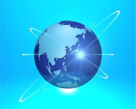 globe network blue background Stock Photo - Premium Royalty-Free, Code: 6106-08276856