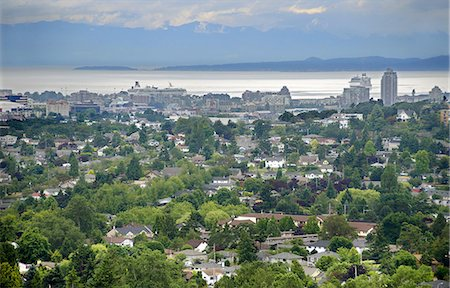 Aerial view of Victoria British Columbia Stock Photo - Premium Royalty-Free, Code: 6106-08277249
