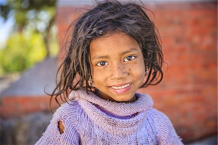 Portrait of young Nepali girl Stock Photo - Premium Royalty-Free, Code: 6106-08277786