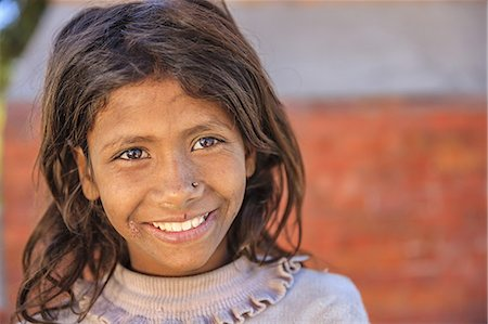 Portrait of young Nepali girl Stock Photo - Premium Royalty-Free, Code: 6106-08277788