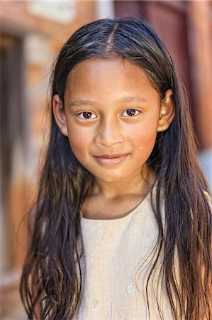 Portrait of young Nepali girl Stock Photo - Premium Royalty-Free, Code: 6106-08277791