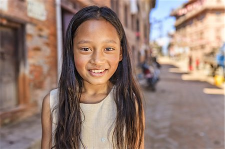 Portrait of young Nepali girl Stock Photo - Premium Royalty-Free, Code: 6106-08277795