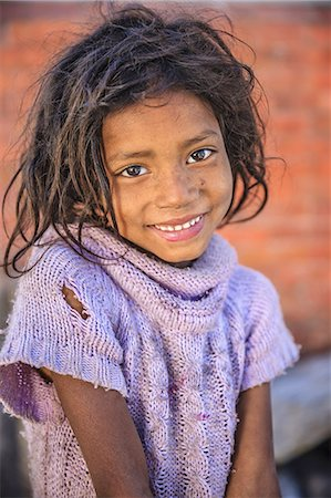 Portrait of young Nepali girl Stock Photo - Premium Royalty-Free, Code: 6106-08277796