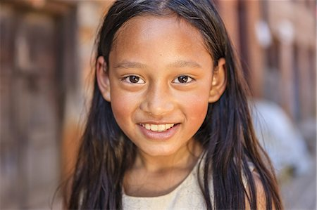 Portrait of young Nepali girl Stock Photo - Premium Royalty-Free, Code: 6106-08277798