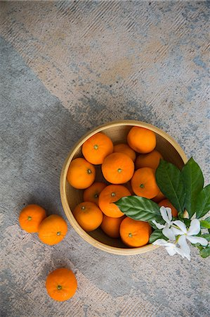 Bowl of Clementine Oranges. Stock Photo - Premium Royalty-Free, Code: 6106-08549398