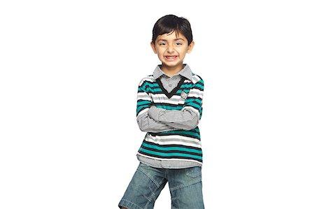 Portrait of little boy Stock Photo - Premium Royalty-Free, Code: 6107-06117681