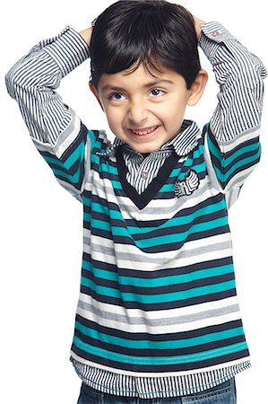 Portrait of little boy Stock Photo - Premium Royalty-Free, Code: 6107-06117689
