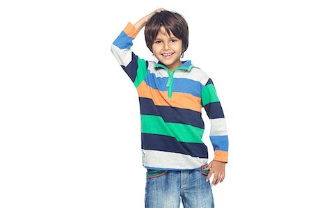 Portrait of little boy Stock Photo - Premium Royalty-Free, Code: 6107-06117697
