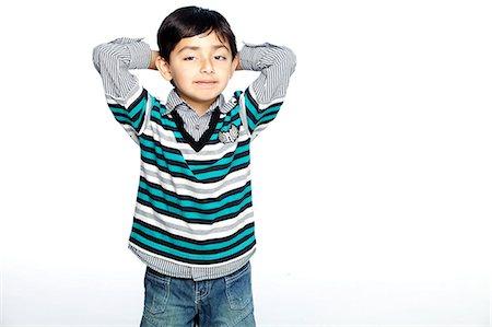 Portrait of little boy Stock Photo - Premium Royalty-Free, Code: 6107-06117694
