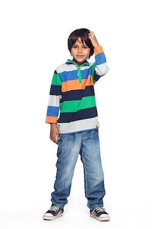 Portrait of little boy Stock Photo - Premium Royalty-Free, Code: 6107-06117695