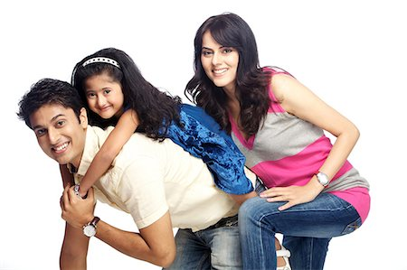 Portrait of young family Stock Photo - Premium Royalty-Free, Code: 6107-06117792