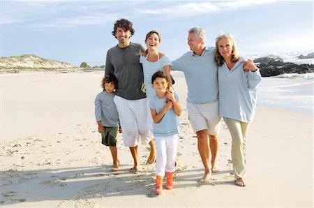Family on the beach Stock Photo - Premium Royalty-Free, Code: 6108-05858241