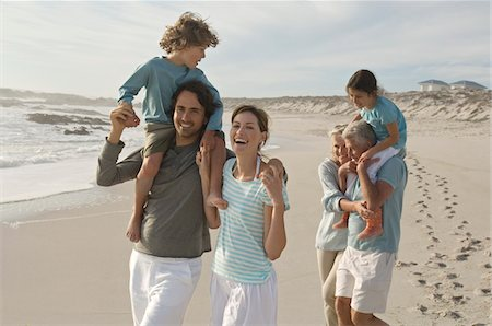 Family on the beach Stock Photo - Premium Royalty-Free, Code: 6108-05858257