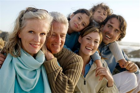 Family on the beach Stock Photo - Premium Royalty-Free, Code: 6108-05858213