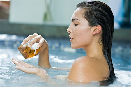Woman taking a spa treatment Stock Photo - Premium Royalty-Free, Code: 6108-05861663