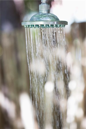 shower - Close-up of a running shower Stock Photo - Premium Royalty-Free, Code: 6108-05872782