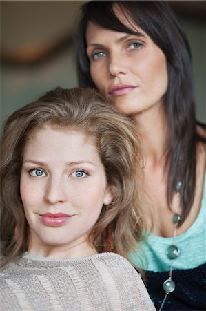Portrait of a woman with her mother Stock Photo - Premium Royalty-Free, Code: 6108-06166346
