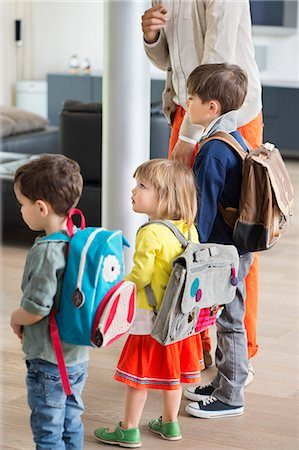 Children ready for school Stock Photo - Premium Royalty-Free, Code: 6108-06166807
