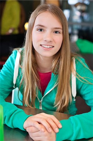 preteen beauty - Portrait of a girl smiling Stock Photo - Premium Royalty-Free, Code: 6108-06167271
