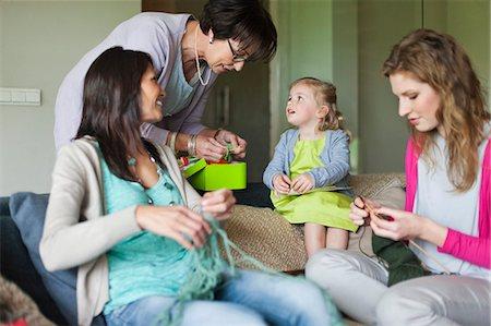 Women knitting Stock Photo - Premium Royalty-Free, Code: 6108-06167621