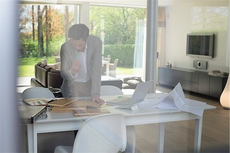 drawing computer - Interior designer working in the office Stock Photo - Premium Royalty-Free, Code: 6108-06168118