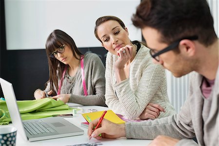 drawing computer - Fashion designers working in an office Stock Photo - Premium Royalty-Free, Code: 6108-06168240