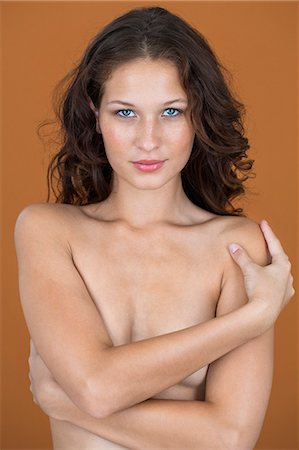 female nude breast sexy - Portrait of a naked woman posing Stock Photo - Premium Royalty-Free, Code: 6108-06905508