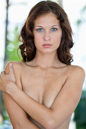 female nude breast sexy - Portrait of a naked woman posing Stock Photo - Premium Royalty-Free, Code: 6108-06905515