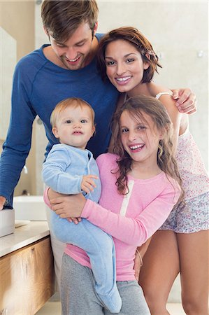 sister - Happy family in a bathroom Stock Photo - Premium Royalty-Free, Code: 6108-06905746