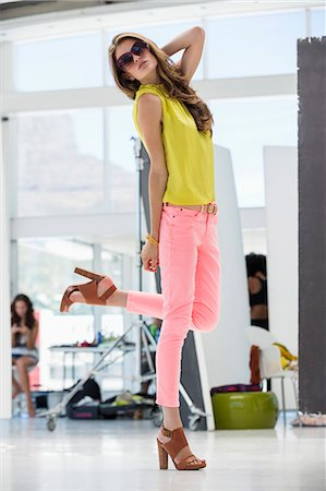 Beautiful woman posing Stock Photo - Premium Royalty-Free, Code: 6108-06905855