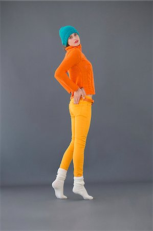 Portrait of a woman posing Stock Photo - Premium Royalty-Free, Code: 6108-06905870