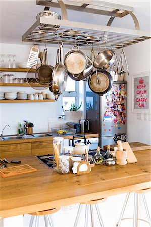 Interiors of a kitchen Stock Photo - Premium Royalty-Free, Code: 6108-06907097