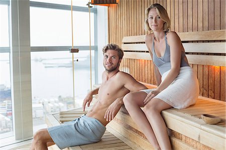 Couple in a sauna Stock Photo - Premium Royalty-Free, Code: 6108-06907453