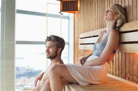 Couple in a sauna Stock Photo - Premium Royalty-Free, Code: 6108-06907489