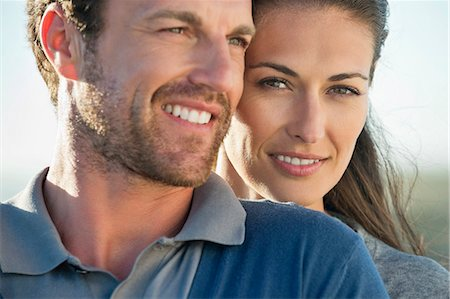 Close-up of a romantic couple Stock Photo - Premium Royalty-Free, Code: 6108-06907909
