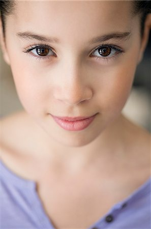 preteen girls faces photo - Portrait of a girl Stock Photo - Premium Royalty-Free, Code: 6108-07969501