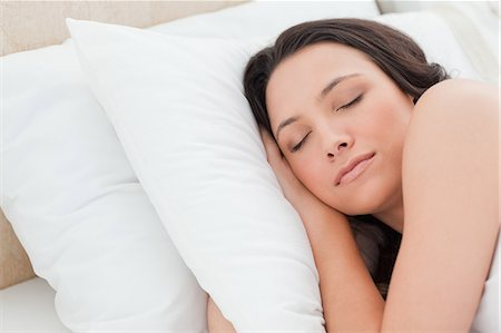 Close-up of a woman sleeping Stock Photo - Premium Royalty-Free, Code: 6109-06194148