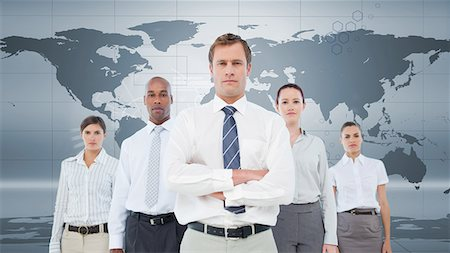 Serious business team standing Stock Photo - Premium Royalty-Free, Code: 6109-06684738