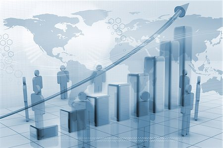 Global business technology on the rise Stock Photo - Premium Royalty-Free, Code: 6109-06685013