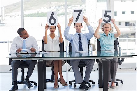 scoring - Panel of judges showing marks Stock Photo - Premium Royalty-Free, Code: 6109-06781341