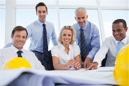 staff - Five architects looking at the camera Stock Photo - Premium Royalty-Free, Code: 6109-06781386