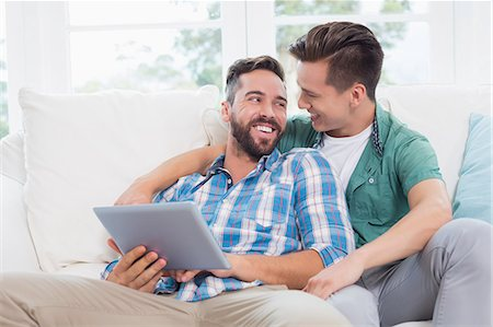 Homosexual couple men looking each other Stock Photo - Premium Royalty-Free, Code: 6109-08203565