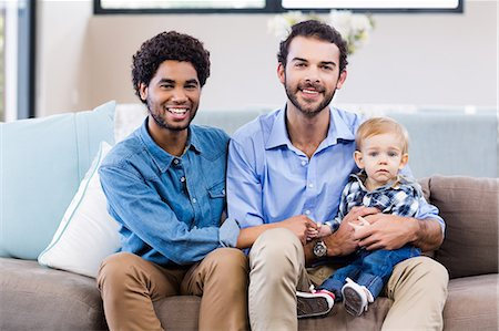 Happy gay couple with child Stock Photo - Premium Royalty-Free, Code: 6109-08390108