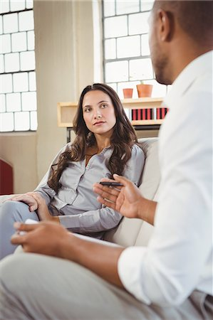 Counselor speaking with patient Stock Photo - Premium Royalty-Free, Code: 6109-08395634