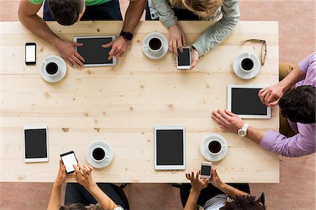 scroll - Overhead of students working together Stock Photo - Premium Royalty-Free, Code: 6109-08396070
