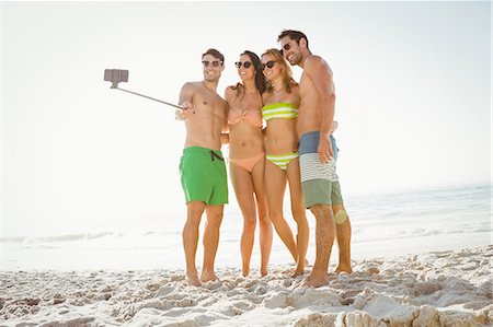fit people - Happy friends taking a selfie Stock Photo - Premium Royalty-Free, Code: 6109-08536795