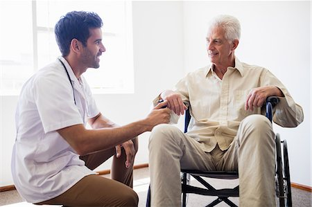 Nurse taking care of a senior man Stock Photo - Premium Royalty-Free, Code: 6109-08538326